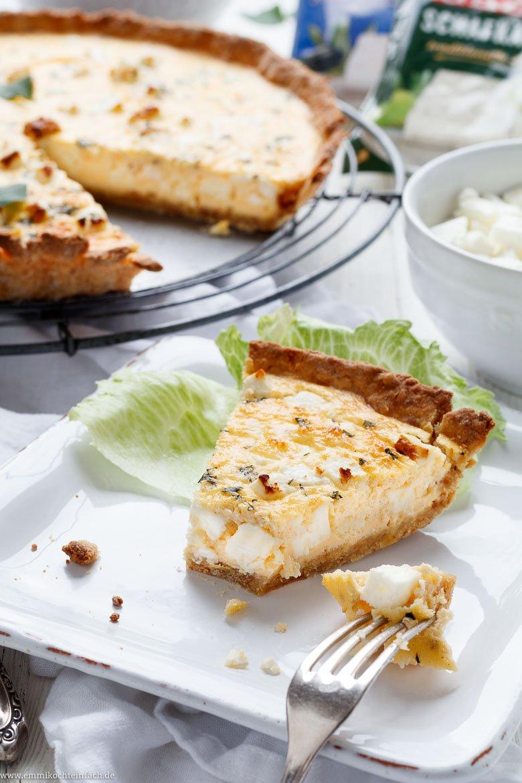 Weisse Käse-Quiche mit Schafkäse, Hirtenkäse und Croissantboden - www.emmikochteinfach.de