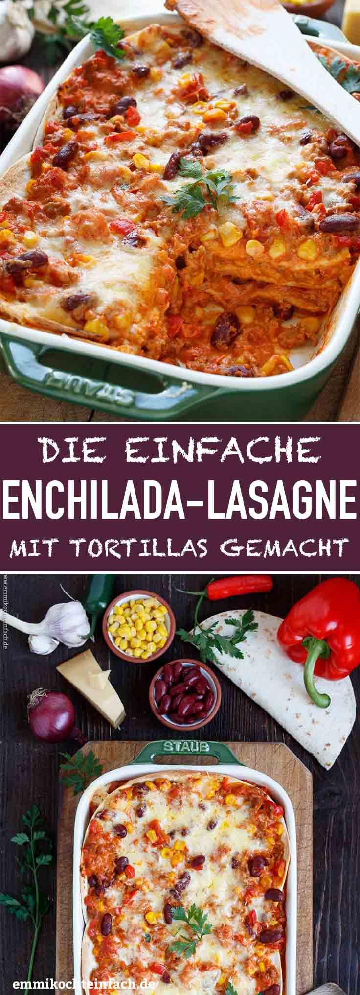 Mexikanische Enchilada-Lasagne - www.emmikochteinfach.de