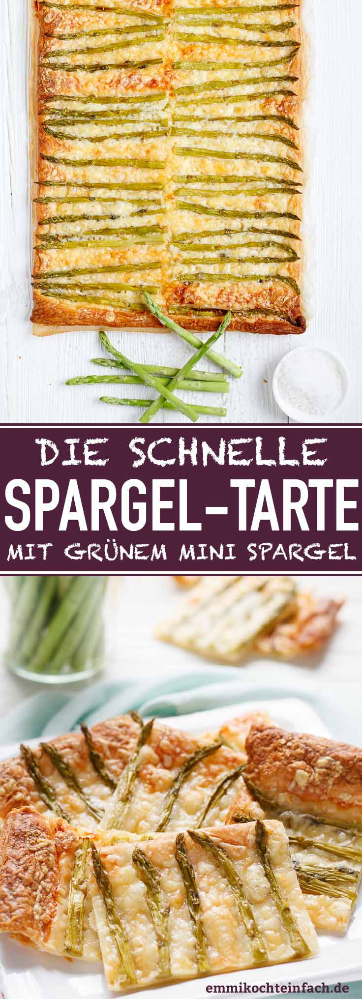 Die einfache und schnelle 3-Zutaten-Spargeltarte - www.emmikochteinfach.de