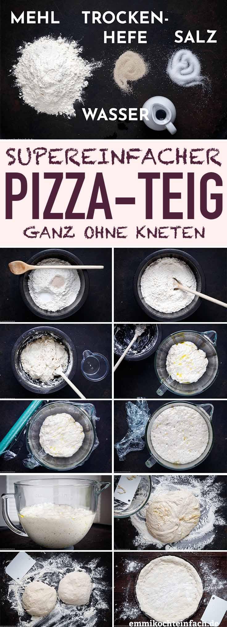 Einfacher amerikanischer Pizzateig ohne Kneten - www.emmikochteinfach.de