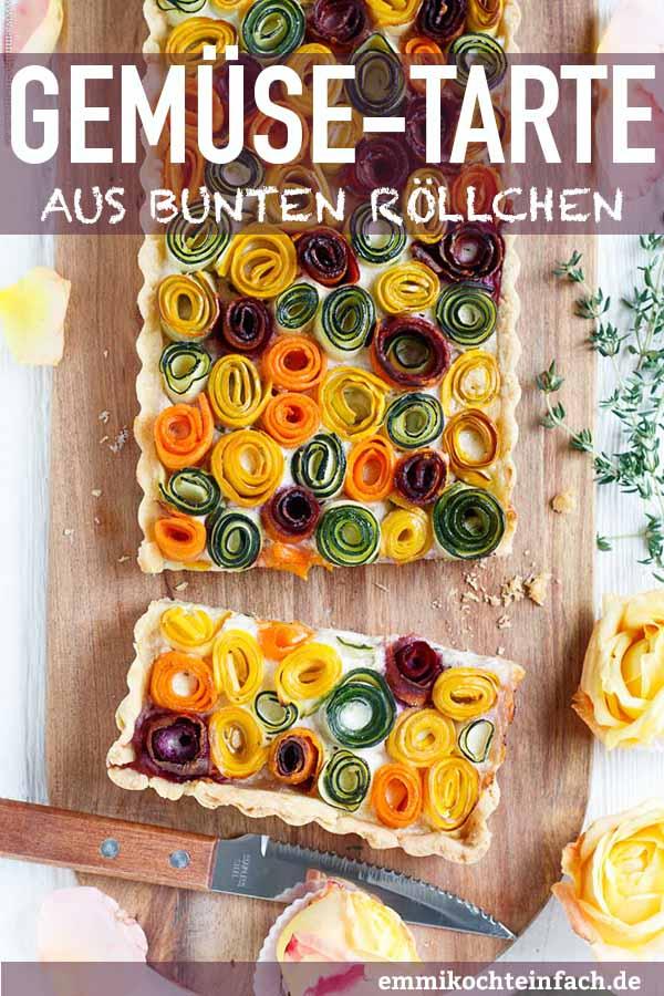 Gemüseröschen Tarte - Gemüse Tarte - www.emmikochteinfach.de