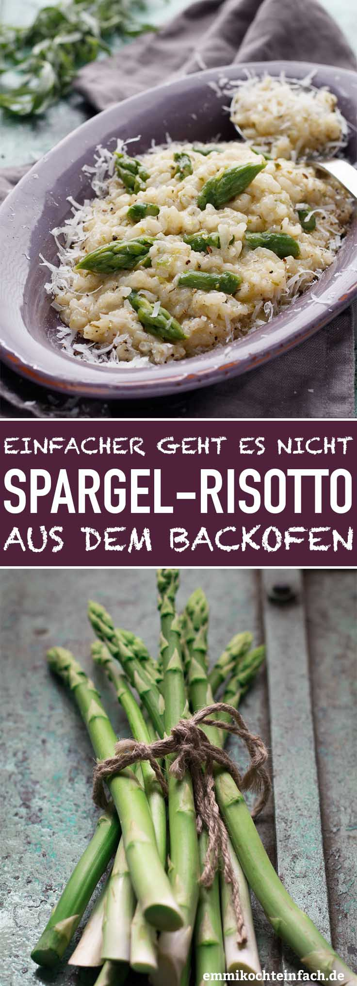 Risotto aus dem Backofen in der Spargelzeit - www.emmikochteinfach.de