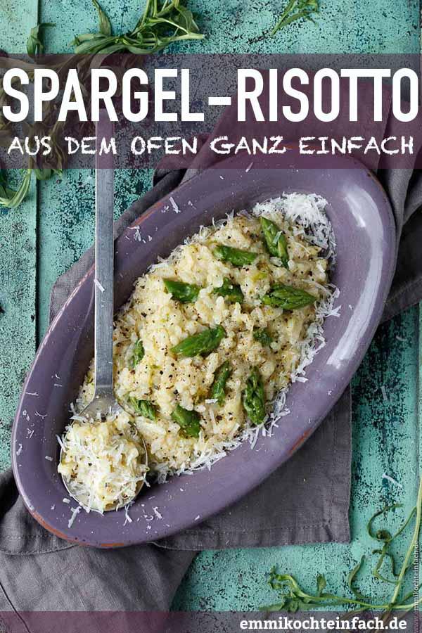 Spargelrisotto aus dem Ofen mit grünem Spargel - www.emmikochteinfach.de