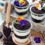 Oreo Vanillecreme Dessert mit Blumengruß - www.emmikochteinfach.de