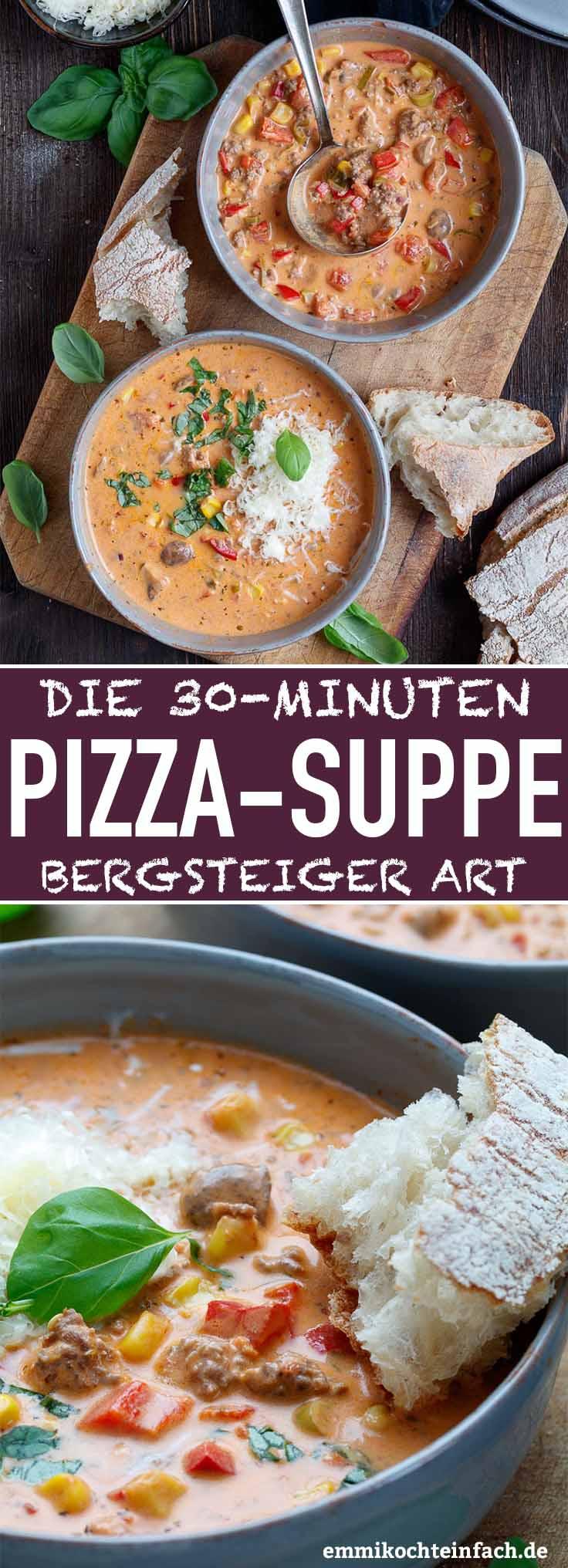 Schnelle Pizzasuppe Bergsteiger Art - www.emmikochteinfach.de