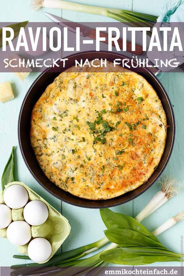 Spinat-Raviolo Frittata - www.emmikochteinfach.de