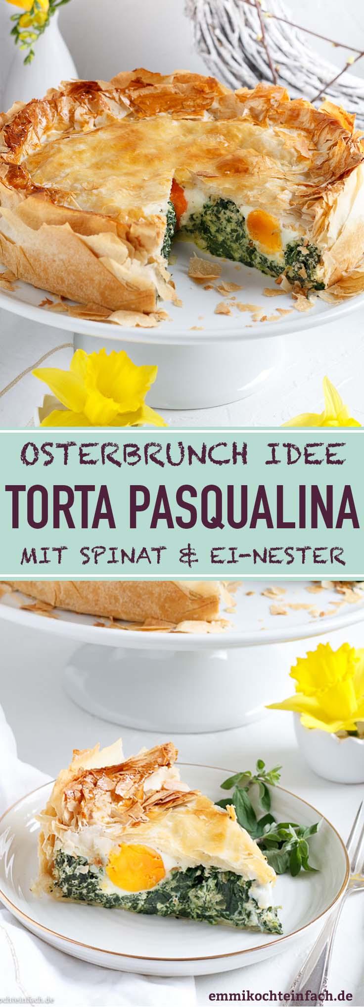 Spinattorte mit Ricotta und Ei-Nester - www.emmikochteinfach.de