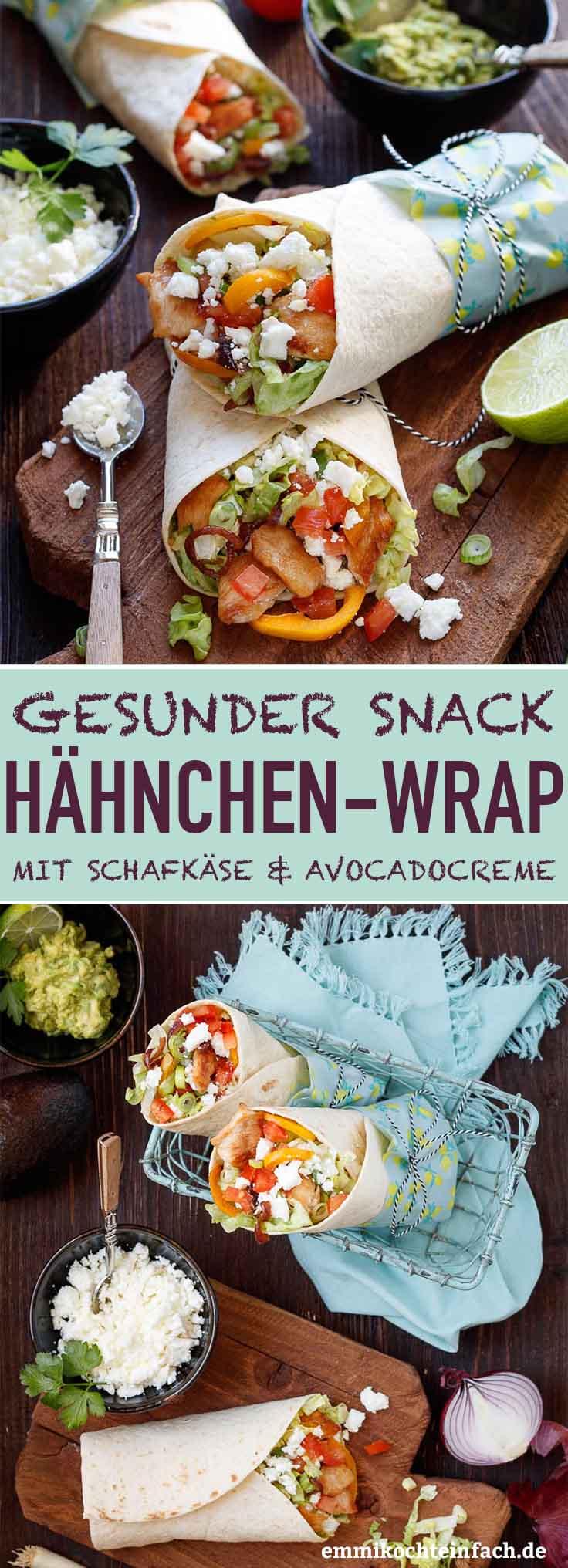 Wrap mit Hähnchen, Schafkäse und Avocadocreme - www.emmikochteinfach.de