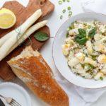 Mit weißem Spargel ist ein schneller Salat gezaubert - www.emmikochteinfach.de