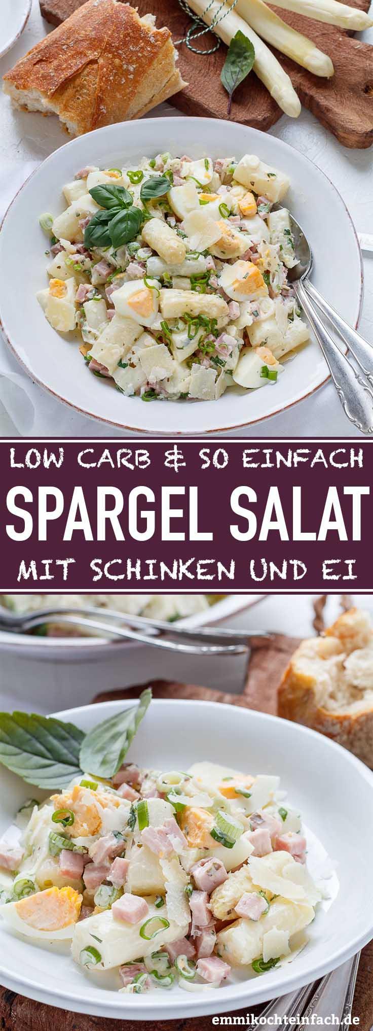 Low Carb Spargelsalat in 30 Minuten ganz einfach gemacht - www.emmikochteinfach.de