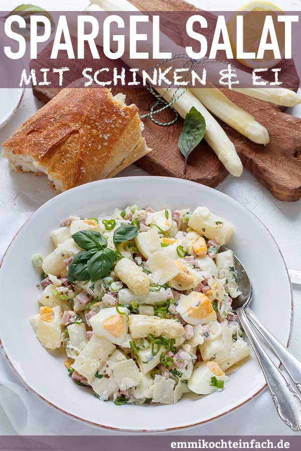 Schneller Spargelsalat ganz einfach gemacht - www.emmikochteinfach.de