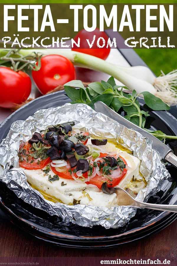 Vegetarisch Grillen mit Feta und Tomaten - www.emmikochteinfach.de