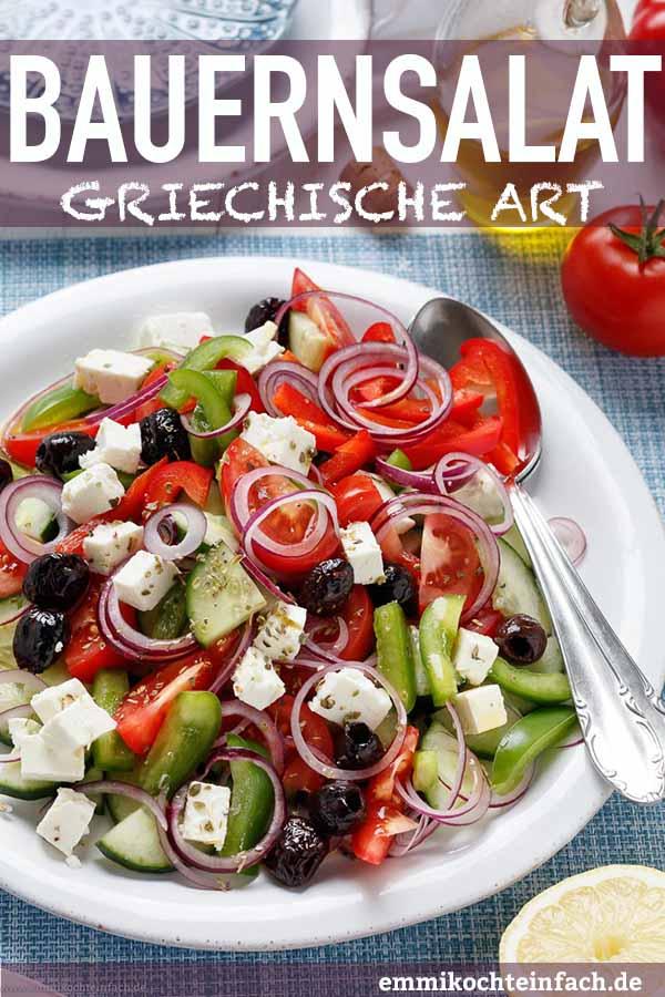 Griechischer Bauernsalat - www.emmikochteinfach.de