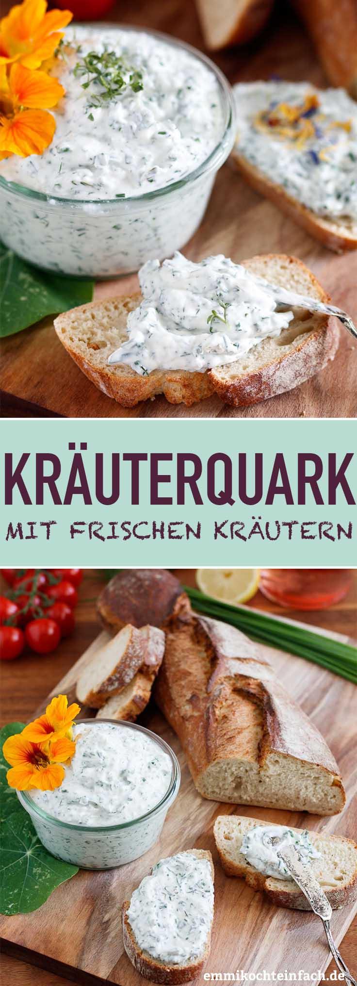 Kräuterquark mit frischen Kräutern - www.emmikochteinfach.de