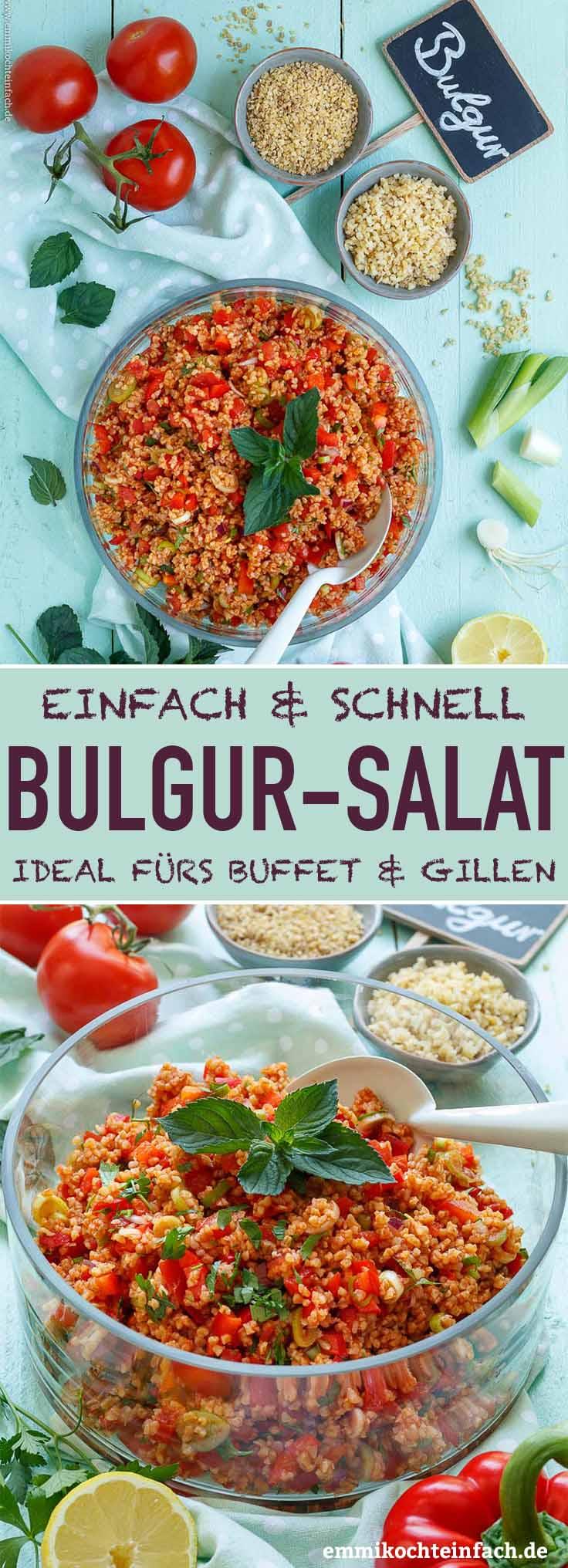 Schneller und einfacher Bulgursalat - www.emmikochteinfach.de