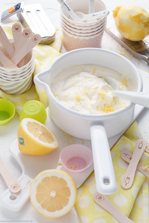 Zitroneneis ganz einfach selbstgemacht - www.emmikochteinfach.de