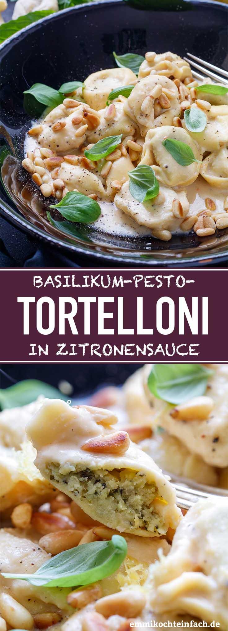 Basilikum-Pesto-Tortelloni in Zitronensauce - www.emmikochteinfach.de