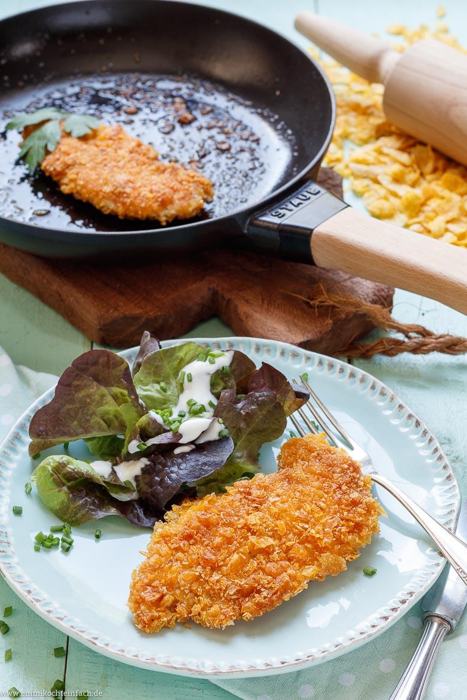 Schnitzel mit Cornflakes Panade - www.emmikochteinfach.de