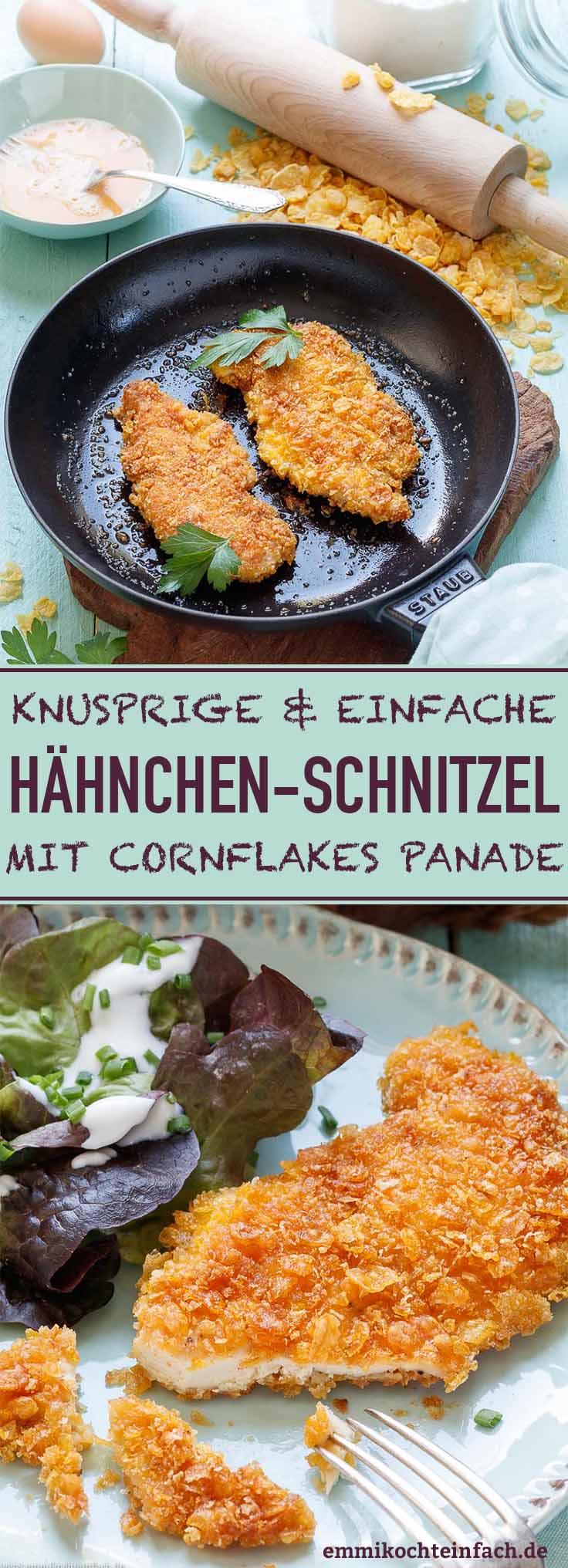 Knusprige Hähnchenschnitzel ganz einfach gemacht - www.emmikochteinfach.de