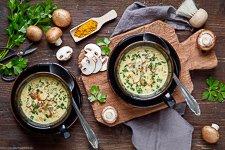Champignon Suppe mit Curry - www.emmikochteinfach.de