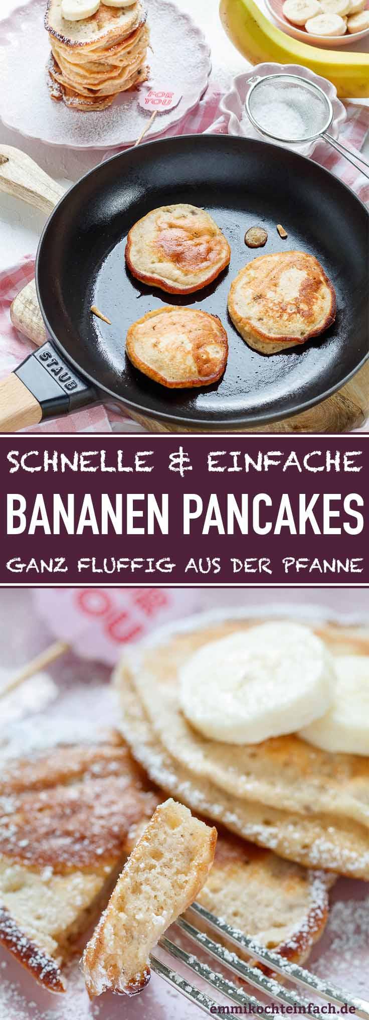 Leckere, fluffige Pfannkuchen ganz einfach - www.emmikochteinfach.de
