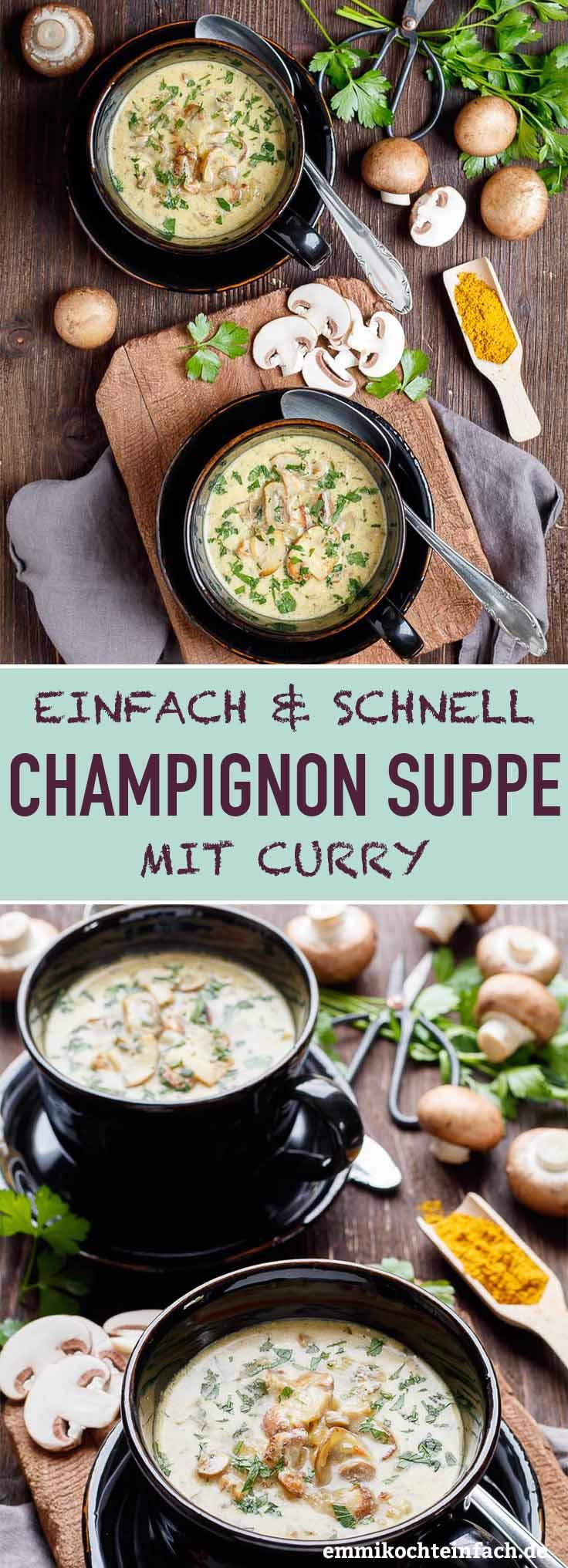 Ein leckeres Pilz Süppchen - www.emmikochteinfach.de