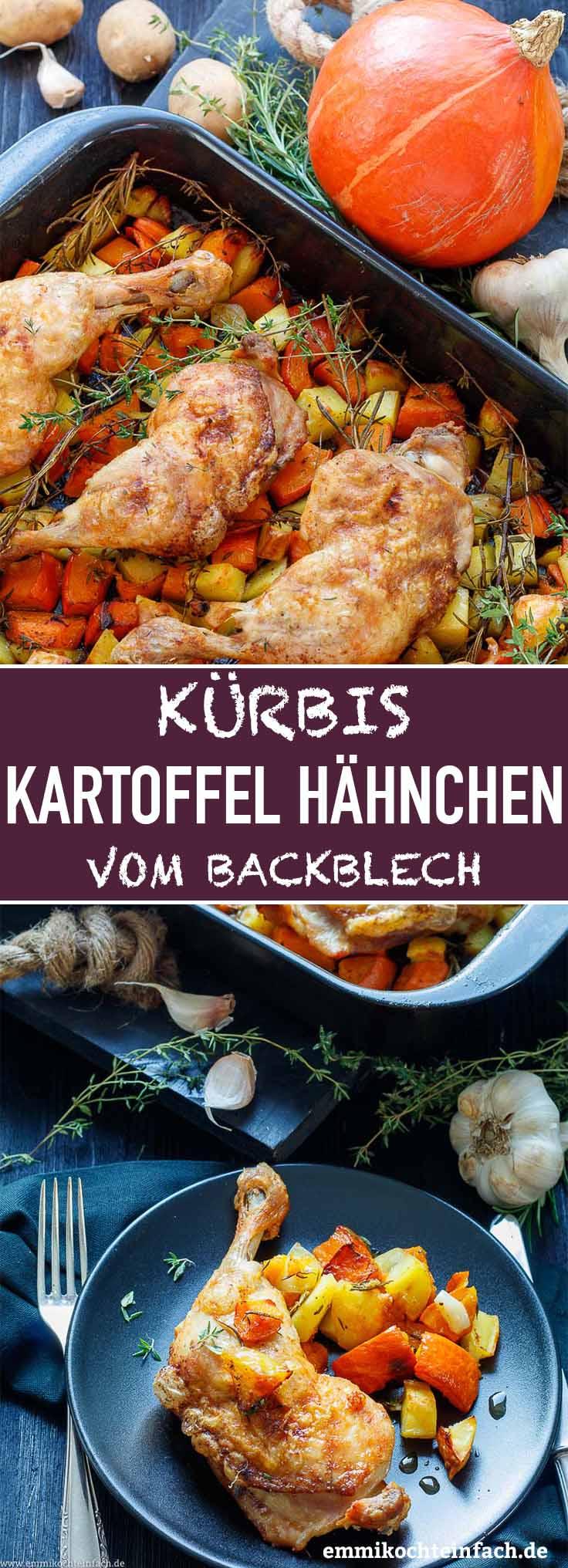 Kürbis Kartoffel Hähnchen aus dem Ofen - www.emmikochteinfach.de