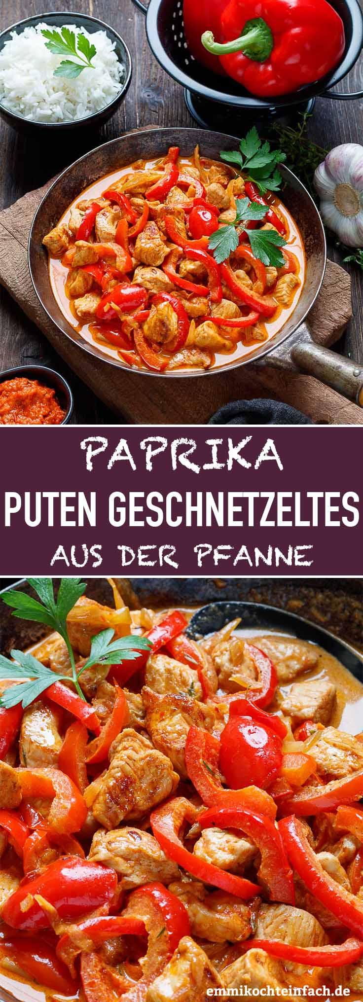 Paprika Putengeschnetzeltes aus der Pfanne - www.emmikochteinfach.de