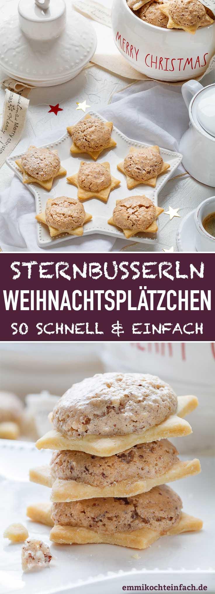 Ganz einfache und schnelle Plätzchen für die Weihnachtszeit - www.emmikochteinfach.de