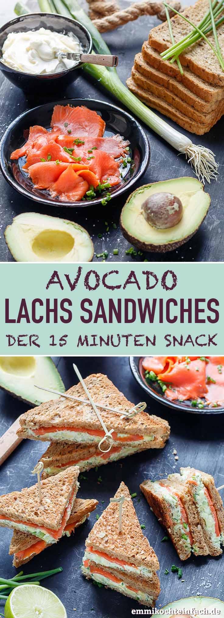 Avocado Lachs Sandwiches - www.emmikochteinfach.de