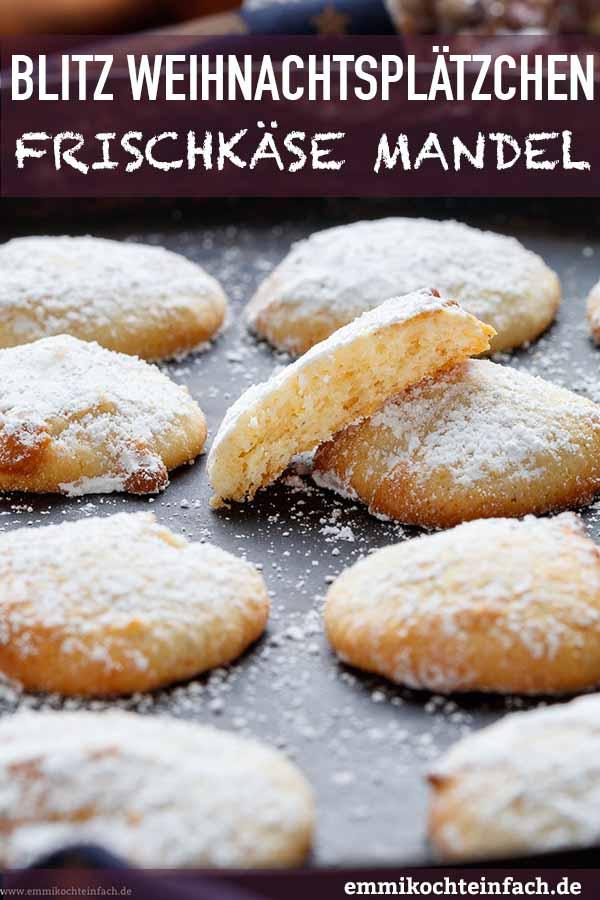 Frischkäse Mandel Plätzchen - www.emmikochteinfach.de
