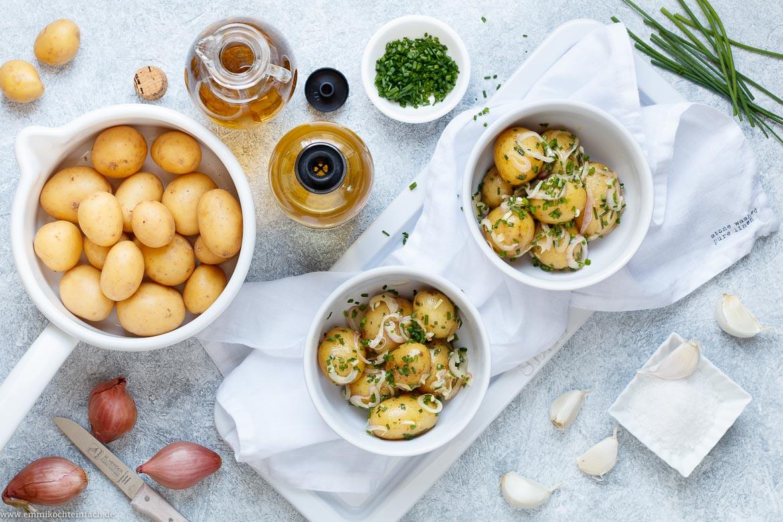 Kartoffelsalat mit Sherry Senf Dressing - emmikochteinfach