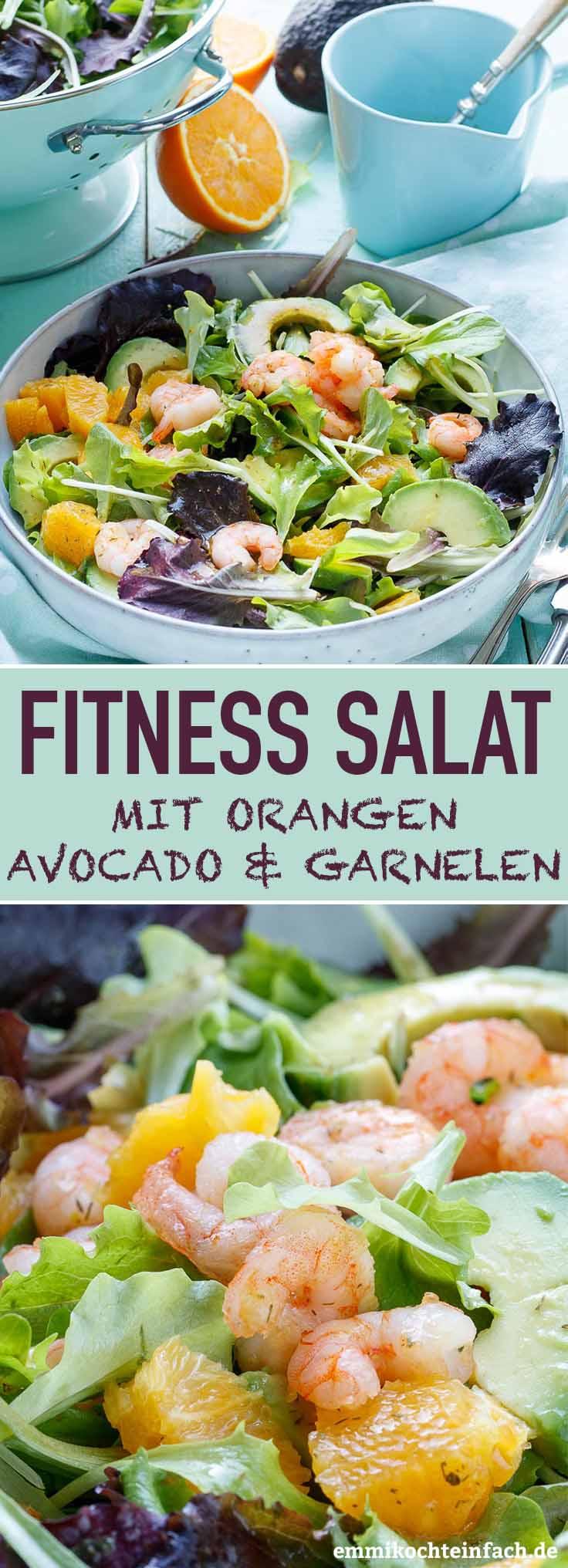 Fitness Salat mit Orangen, Avocado und Garnelen - www.emmikochteinfach.de