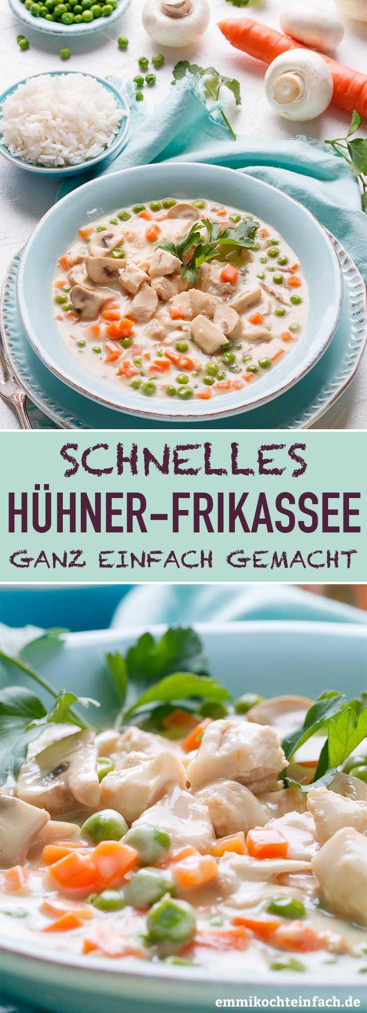 Hühnerfrikassee - einfach und schnell gemacht - www.emmikochteinfach.de