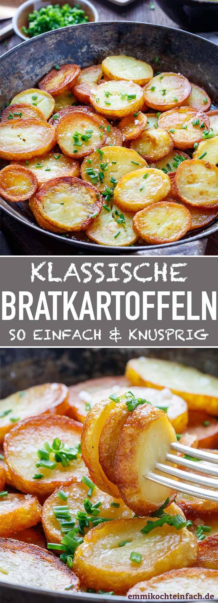 Klassische Bratkartoffeln - ganz einfach und knusprig - www.emmikochteinfach.de