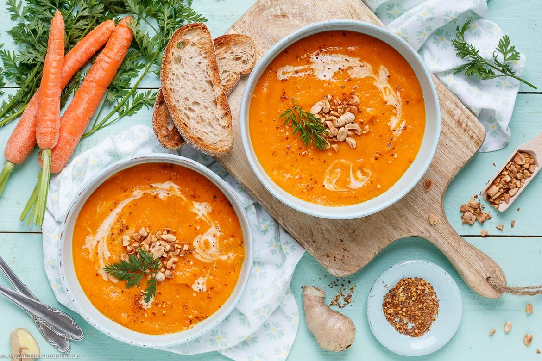Möhren Ingwer Suppe ganz einfach