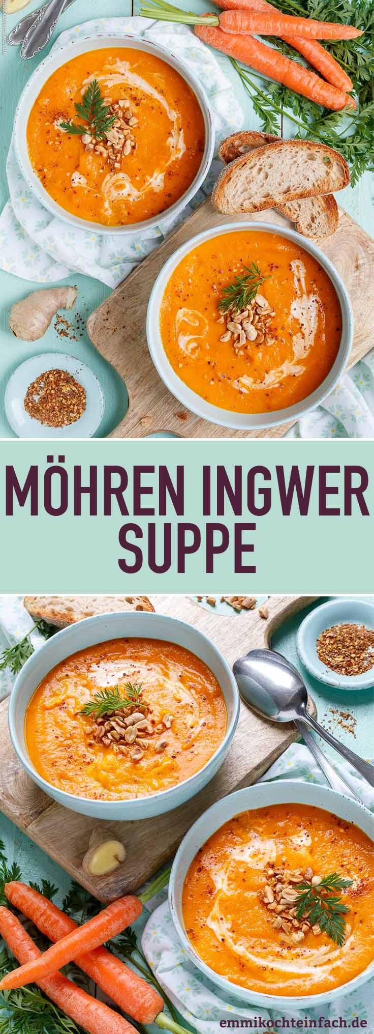 Die schnelle und gesunde Karotten Suppe - www.emmikochteinfach.de