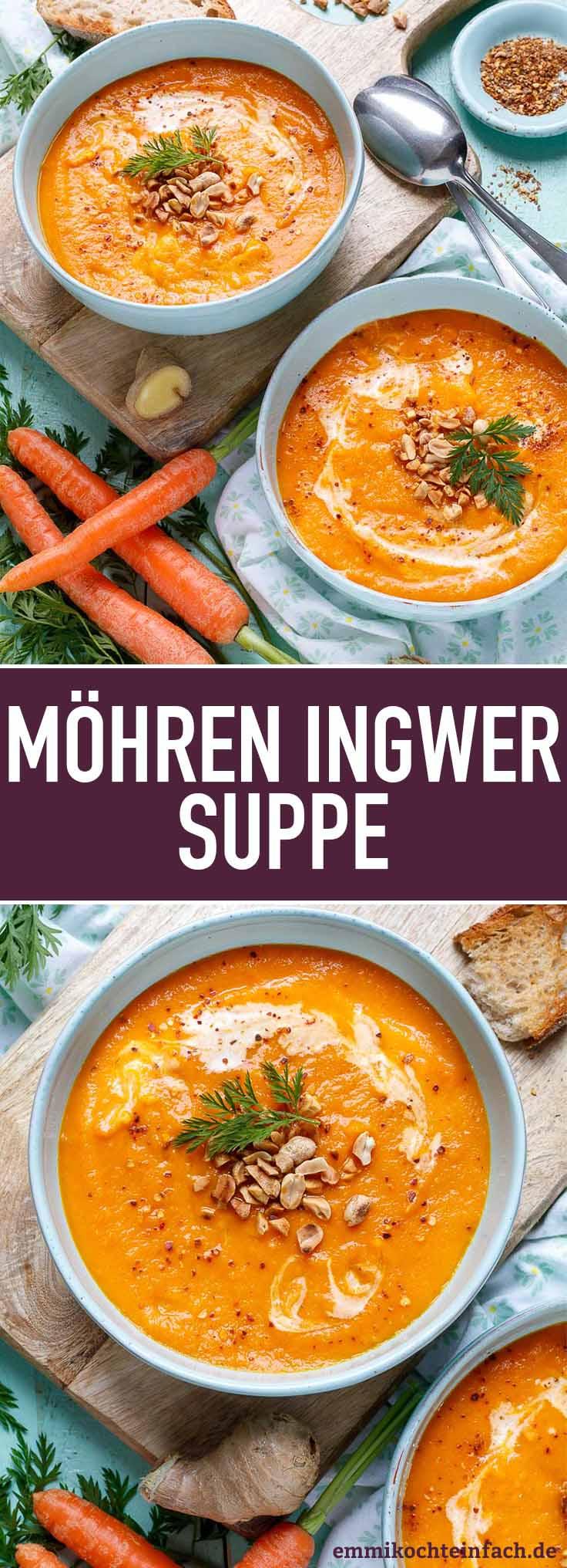 Möhren Ingwer Suppe ganz einfach - www.emmikochteinfach.de