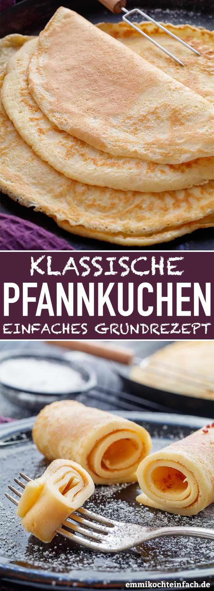 Emmis klassische Pfannkuchen - mein Grundrezept - www.emmikochteinfach.de