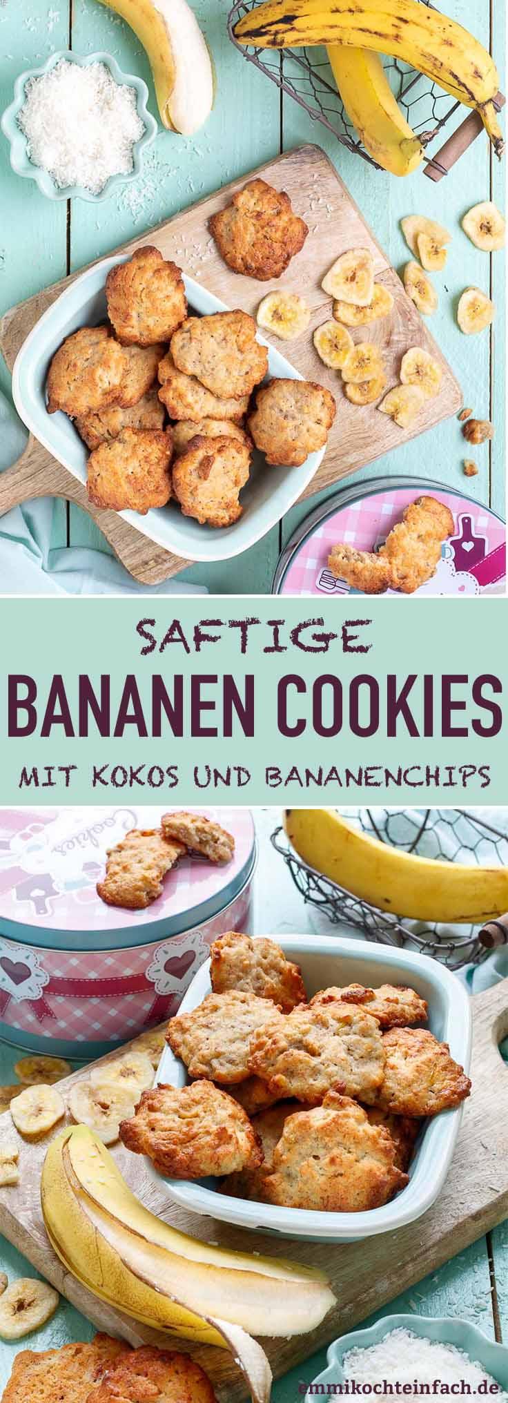 Saftige Bananenkekse - www.emmikochteinfach.de
