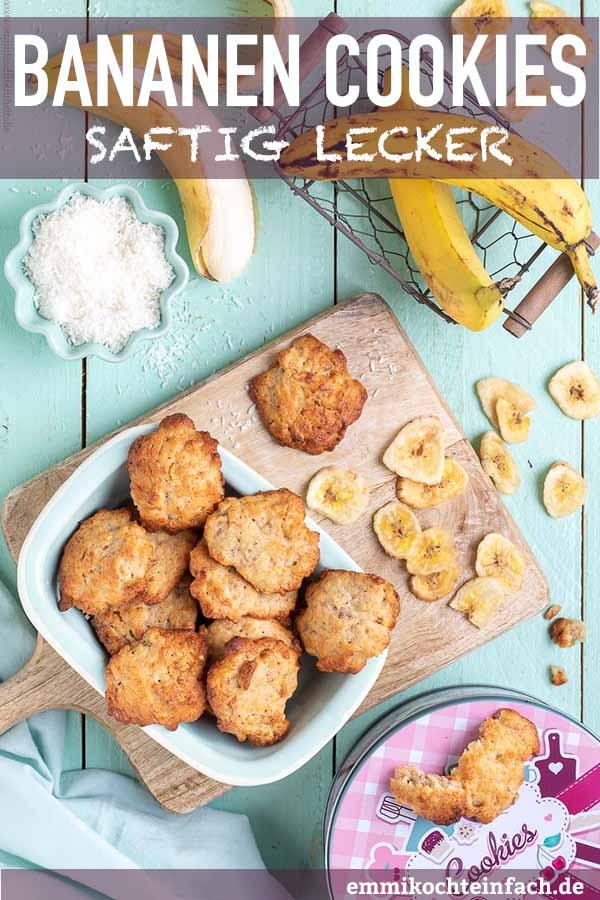 Saftige Bananen Cookies - www.emmikochteinfach.de
