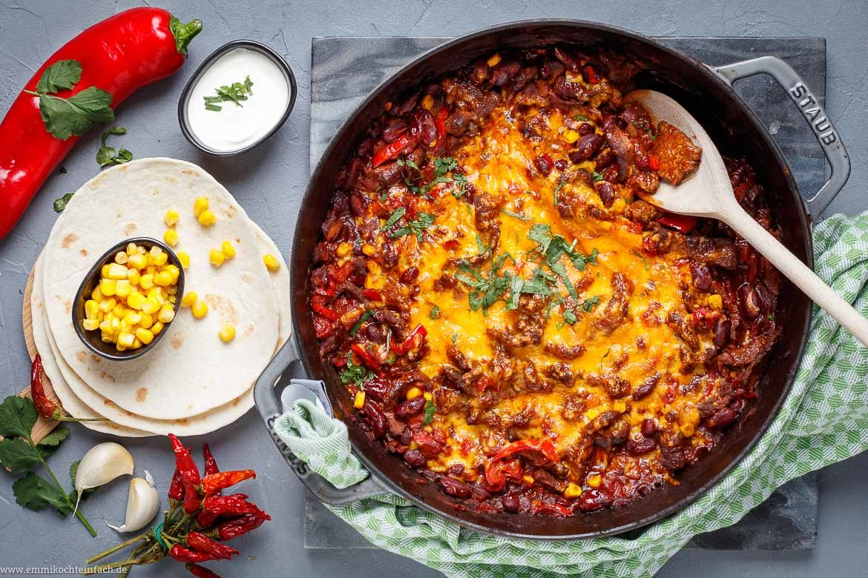 Pfannengericht mit Rindersteak im TexMex-Style - www.emmikochteinfach.de