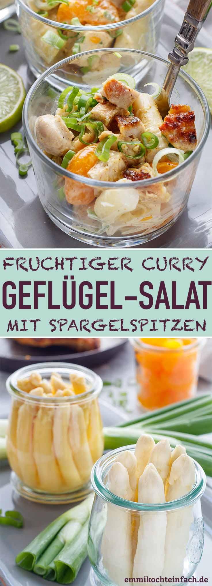 Klassischer Geflügelsalat mit Curry ganz einfach - www.emmikochteinfach.de