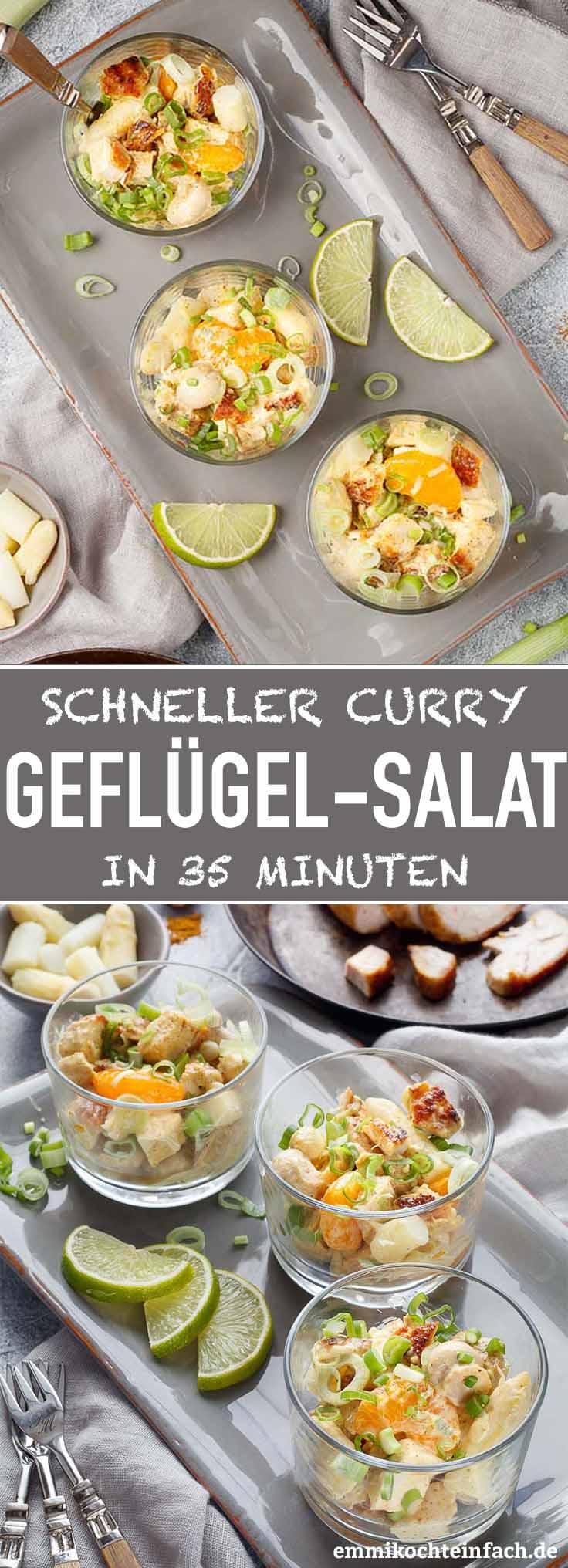 Klassischer Geflügel-Salat ganz einfach - www.emmikochteinfach.de