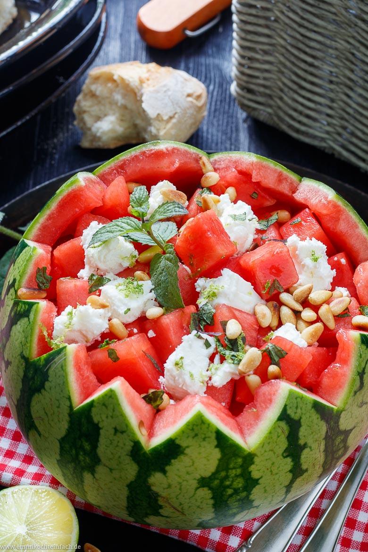 Einfacher Wassermelonensalat mit Feta - www.emmikochteinfach.de