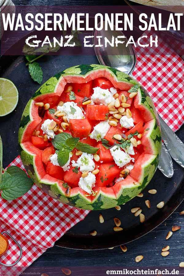 Einfacher Wassermelonen Salat - www.emmikochteinfach.de