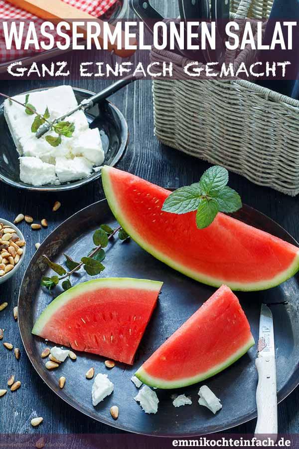 Wassermelonensalat ganz einfach - www.emmikochteinfach.de