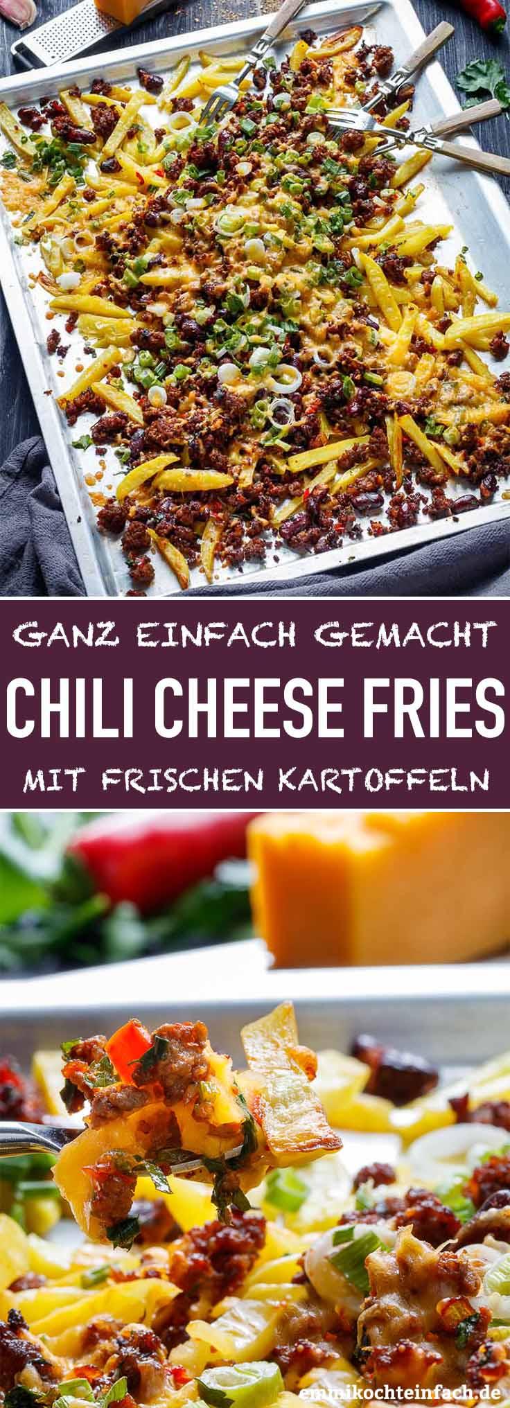 Chili Cheese Fries mit frischen Kartoffeln - www.emmikochteinfach.de