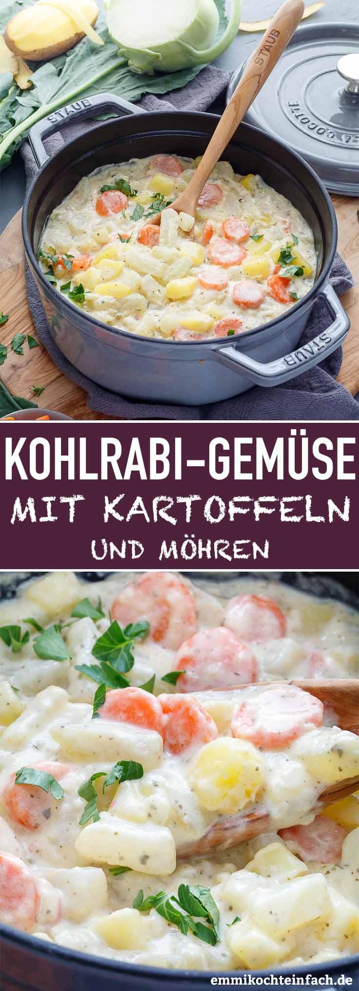 Kohlrabigemüse mit Kartoffeln und Möhren - www.emmikochteinfach.de