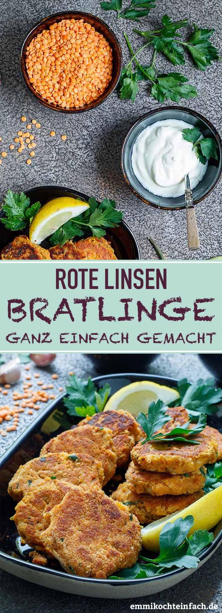 Rote Linsen Bratlinge - www.emmikochteinfach.de